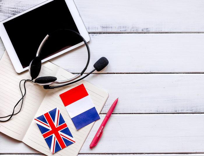 جمع بندی زبان انگلیسی یا زبان فرانسه